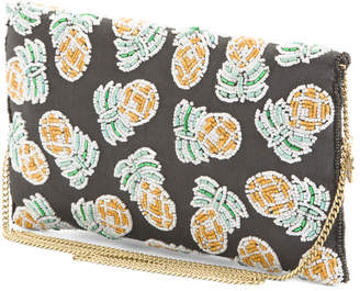 Pina Pineapple Clutch With Beads