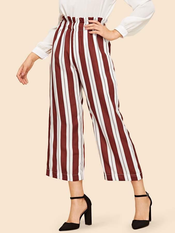 70s Striped High Waist Wide Leg Pants