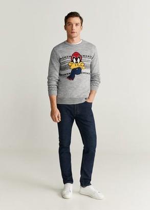 MANGO Christmas jacquard sweater