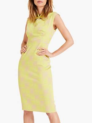 Damsel in a Dress Dania Printed Dress, Yellow/Blush