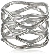 "Zina Sterling Silver ""Wired"" Wavy Ring, Size 7"