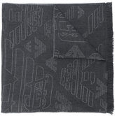 Emporio Armani jacquard logo scarf - men - Wool - One Size
