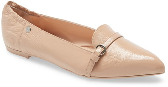 AGL Buckle Detail Pointed Toe Ballet Flat