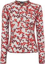 Little White Lies Long Sleeved High Neck Sheer Printed Top