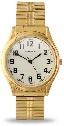 Sekonda 3244.27 Gents Gold Plated Analogue Expander Watch