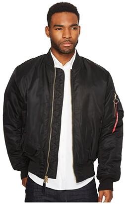 Alpha Industries Alpha MA-1 Flight Jacket (Black) Men's Jacket