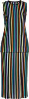 Diane von Furstenberg Layered Knit Dress with Cotton