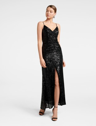 Ever New Rosaleen Sequin Ruched Gown