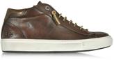 D'Acquasparta D'Acquasparta Mid Urban Dark Brown Leather Men's Sneaker