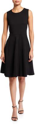 T Tahari Fit-&-Flare Sleeveless Dress