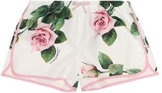 Dolce & Gabbana Floral swim shorts