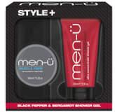Menu men-u Style+ Black Pepper & Bergamot Shower Gel 100ml - Muscle Fibre