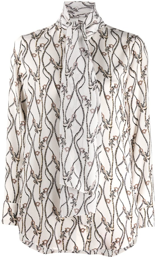 Salvatore Ferragamo Gancio rope print blouse