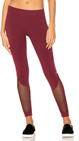 adidas by Stella McCartney The Seamless Mesh Tight in Burgundy