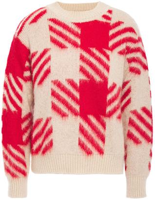 Sandro Checked Jacquard-knit Sweater