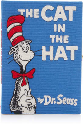 Olympia Le-Tan The Cat In The Hat Embroidered Canvas Book Clutch