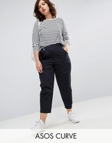 Asos Cropped Chino Pants with D-Ring Belt