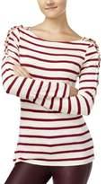 Jessica Simpson Womens Juniors Slub Striped Blouse