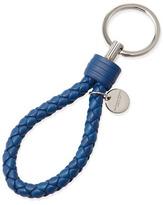 Bottega Veneta Braided Loop Key Ring, Electriq Royal