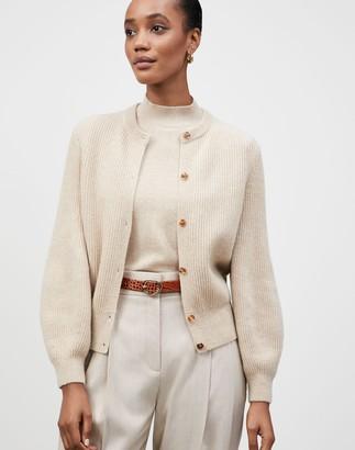 Lafayette 148 New York Petite KindCashmere Blouson Sleeve Button Front Cardigan