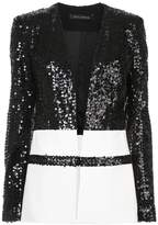 Sally Lapointe contrast panelled sequin jacket