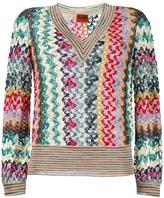 Missoni V-neck jumper - women - Polyester/Cupro/Viscose - 42
