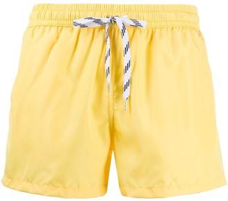 Nos Beachwear Logo Patch Swim Shorts