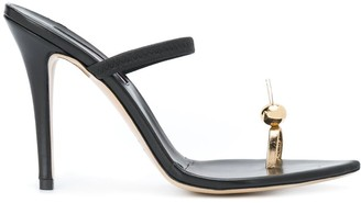 Natasha Zinko Single-Toe Strap Sandals