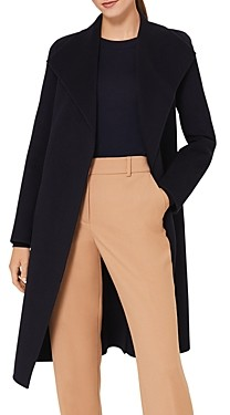 Hobbs London Camille Belted Wing Collar Coat