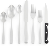 Gibson White Elements Willowick 42 Pc Flatware Set, Service for 6
