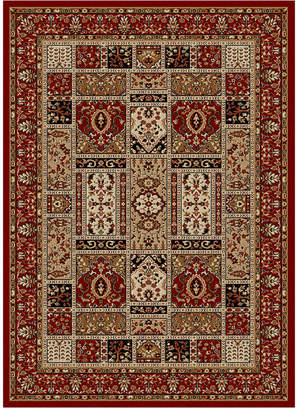 """Pesaro Closeout! Km Home Panel Red 2'2"""" x 7'7"""" Runner Area Rug"""