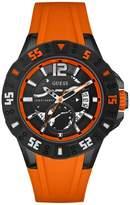 GUESS GUESS? Men's U0034G8 Orange Polyurethane Quartz Watch with Dial