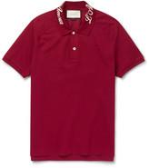 Gucci Slim-Fit Stretch-Cotton Piqué Polo Shirt