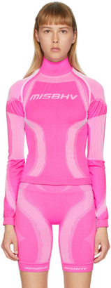 Misbhv Pink Active Sport Turtleneck