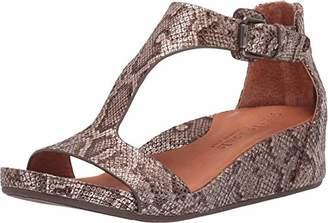 Gentle Souls Women's Gisele T-Strap Wedge Sandal