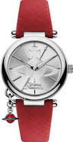 Vivienne Westwood vv006ssrd orb pop stainless steel and leather watch