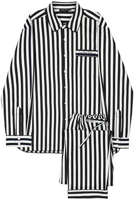 Not Just Pajama Cotton Stripe Pajama Set 2 Pieces For Male & Female
