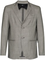 Thumbnail for your product : Edward Crutchley Prince of Wales single-breasted blazer