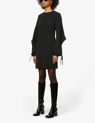Victoria Victoria Beckham Drawstring-sleeve crepe midi dress