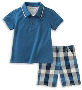 Calvin Klein Polo and Check Shorts Set