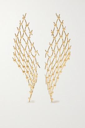 Sebastian Large Net Gold Vermeil Earrings