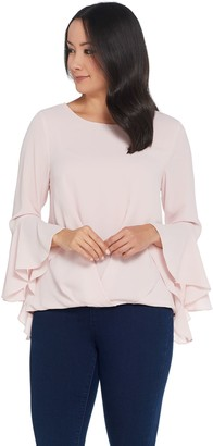 Vince Camuto Bell Sleeve Foldover Blouse