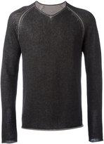 Label Under Construction scoop neck jumper - men - Cotton/Linen/Flax - 50