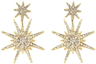 Eye Candy Los Angeles Crystal Detail North Star Statement Drop Earrings