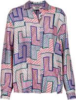 MSGM Printed silk-satin shirt