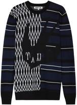 Mcq Alexander Mcqueen Striped Intarsia Wool Jumper