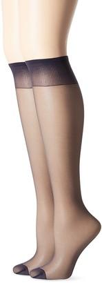Hanes Women's Knee High Reinforce Toe 2 Pack
