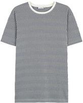 J.lindeberg Striped Cotton Jacquard Top
