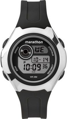 Timex Marathon By Marathon by Women's Digital 39mm Black/Silver-Tone Watch, Resin Strap