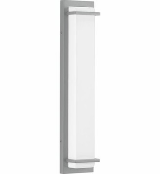 "Latitude Run Bessoir 2 - Bulb 23.5"" H Integrated LED Outdoor Flush Mount Fixture Finish: Metallic Gray"